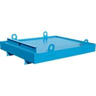 Containerwanne CW 1, Stahl, für Absetzcontainer bis 10 m³, Neigungswinkel 5°, 2300 x 2030 x 560, RAL5012