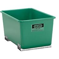 Conteneur CEMO avec manchons pour chariot élévateur,  vert, 400 l