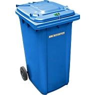 Conteneur GMT 240 litres, spécial pour déchets confidentiels, bleu