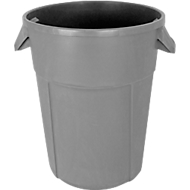 Conteneur rond, pour usage alimentaire, 85L, gris