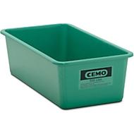 Conteneur standard CEMO en PRV, vert, 500 l plat