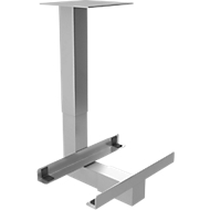 CPU-houder voor bureautafel Topas Line, zilver