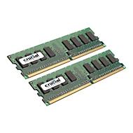 Crucial - DDR2 - 4 GB: 2 x 2 GB - DIMM 240-PIN - ungepuffert