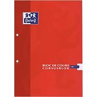 Cursusblokken met blauwe marge, 90 g/m², 100 vel, commercieel geruit, set van 5
