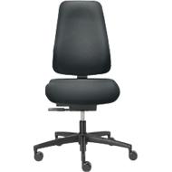 DAUPHIN BASSISLINE 0890 bureaustoel met speciale zitting om de tussenwervelschijven te ontlasten, zonder armleuningen, antraciet