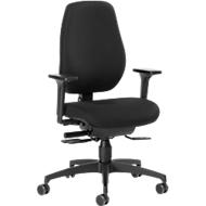 Dauphin Bürostuhl SHAPE 28185, Synchronmechanik, mit Armlehnen, hohe Rückenlehne, schwarz
