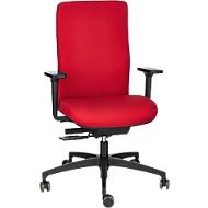 Dauphin Bürostuhl SHAPE ECONOMY 2 COMFORT, Synchronmechanik, mit Armlehnen, flexible Rückenlehne, rot
