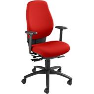 Dauphin bureaustoel SHAPE 28485, synchroonmechanisme, met armleuningen, hoge rugleuning, bekkensteun, rood