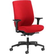 Dauphin bureaustoel SHAPE 29675, synchroonmechanisme, met armleuningen, lordosesteun, rood