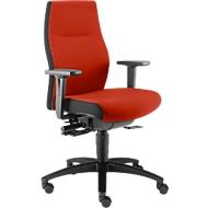 Dauphin bureaustoel SHAPE XTL, synchroonmechanisme, met armleuningen, zittijd langer dan 8 uur, met universele wielen, rood