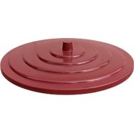 Deckel, aus HDPE, versch. Farben und Größen, f. Kunststoff-Bottich, 500 Liter, rot