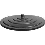 Deckel, aus HDPE, versch. Farben und Größen, f. Kunststoff-Bottich, 500 Liter, schwarz
