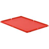 Deckel, für Kasten im EURO-Maß, ohne Haken, rot
