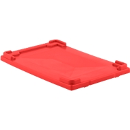 Deckel für Mehrwegbehälter FB 604, rot