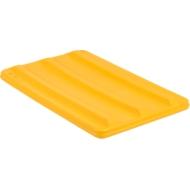 Deckel für Rechteckbehälter, Kunststoff, 135 l, gelb