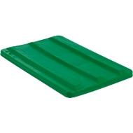 Deckel für Rechteckbehälter, Kunststoff, 135 l, grün