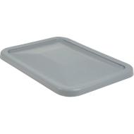 Deckel für Rechteckbehälter, Kunststoff, 227 l, grau