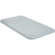 Deckel für Rechteckbehälter, Kunststoff, 450 l, grau