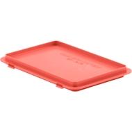 Deckel mit Haken EF-D 32 H für Kasten im EURO-Maß, rot