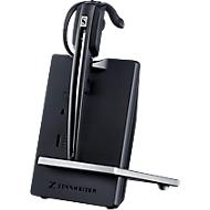DECT-headset Sennheiser D 10 USB ML, snoerloos/monogeluid, Skype-gecertificeerd, 55 m bereik