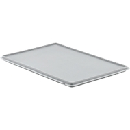 Deksel met klemmen EF-DH 64 voor bakken in Euronorm, grijs