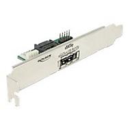 DeLOCK Slot bracket 1 x eSATApd 5 V / 12 V - SATA-Blende, intern/extern