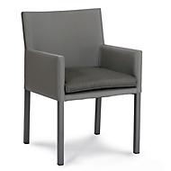 Design Dining-Sessel Tobago, wetterfest, Sensotex-Bezug, inkl. Sitzkissen, anthrazit