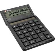 Desktopcalculator Twen Eco 10, 10-cijferig display op zonne-energie, MU & GT-functie en 10-cijferig display.