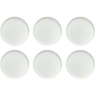 Dessertbordje Solea vlak, Ø 190 mm, effen, wit, Porselein, 6 st.