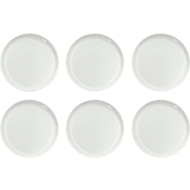 Dessertteller Solea flach, Ø 190 mm, uni, weiß, Porzellan, 6 Stück