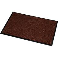Deurmat microvezel, B 600 x L 900 mm, wasbaar op 30 graden, bruin