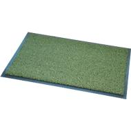 Deurmat Salvus, 100% gerecycled, met borsteleffect, B 600 x L 800 mm, groen, met borsteleffect.