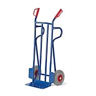 Diable, capacité 250 kg, l. 450 x P 600 x H 1250 mm, roues en caoutchouc plein
