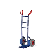 Diable pliable pour escalier, roues pneumatiques