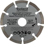 Diamant-Trennscheiben Set, 2 Stück, segmentiert, geeignet für den Trockenschnitt, bis 80 m/s, Außen-Ø 150 mm