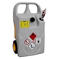 Diesel en stookolie Trolley CEMO met snelkoppeling, 60 l, polyethyleen, vulopening, B 900 x D 530 x H 380 mm
