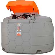 Dieseltank CEMO CUBE Outdoor Basic, 4 m Schlauch DN 25, Klappdeckel, 5000 l Volumen