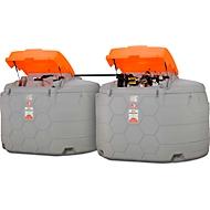 Dieseltank CEMO CUBE Outdoor Premium, 8 m Schlauch DN 25, Zähler K33, Filter, Schlauchaufroller, Klappdeckel, 5000 l Volumen