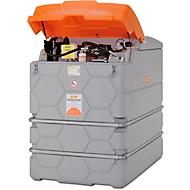 Dieseltank CEMO CUBE Outdoor Premium Plus SIM, 1000 l Volumen, 230 V Elektropumpe, B 1200 x T 800 x H 1800 mm