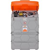 Dieseltank CUBE, Kant-en-klare installatie, versch. afmetingen, 1000 l, Elektrische pomp 230V, Autom.-tappistool