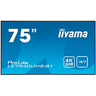 Digital Signage Display iiyama ProLite LE7540UHS-B1, 75 Zoll, 4K UHD, 3840 x 2160 Px, 4x HDMI, 4x USB, 18/7-Betrieb