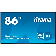 Digital Signage Display iiyama ProLite LE8640UHS-B1, 86 Zoll, 4K UHD, 3840 x 2160 Px, 4x HDMI, 4x USB, 18/7-Betrieb