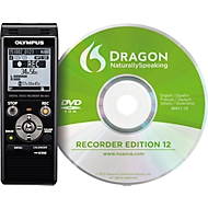 Diktiergerät Olympus WS-853 DNS-Kit, Hi-Speed USB 2.0, Stereo-Mikrofon, mit Auto-Modus