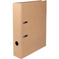 DIN A4 Ordner Biella Minimal Design 70 mm, Griffloch, Hebelmechanik, Raumsparschlitze, Recyclingkarton, braun