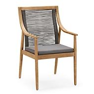 Dining fauteuil Barletta, incl. kussen met ritssluiting B 610 x D 670 x H 990 mm, grandis/grijs