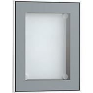 Display-Schaukasten, alusilberfarben eloxiert, 328 x 415 mm