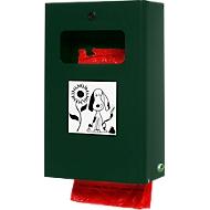Distributeur de sachets pour déjections canines, verrouillable, vert mousse
