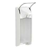 Distributeur de savon et de désinfectant Ingo-man plus, 1000 ml, y compris le flacon vide, blanc