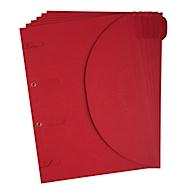Dokumentenmappe TARIFOLD Smartfolder, Format A4, für bis zu 80 Blatt, Karton, rot, 6 Stück