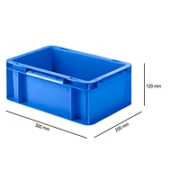 Doos in EURO afmetingen EF 3120, 4,2 l, L 300 x B 200 x H 120 mm, blauw
